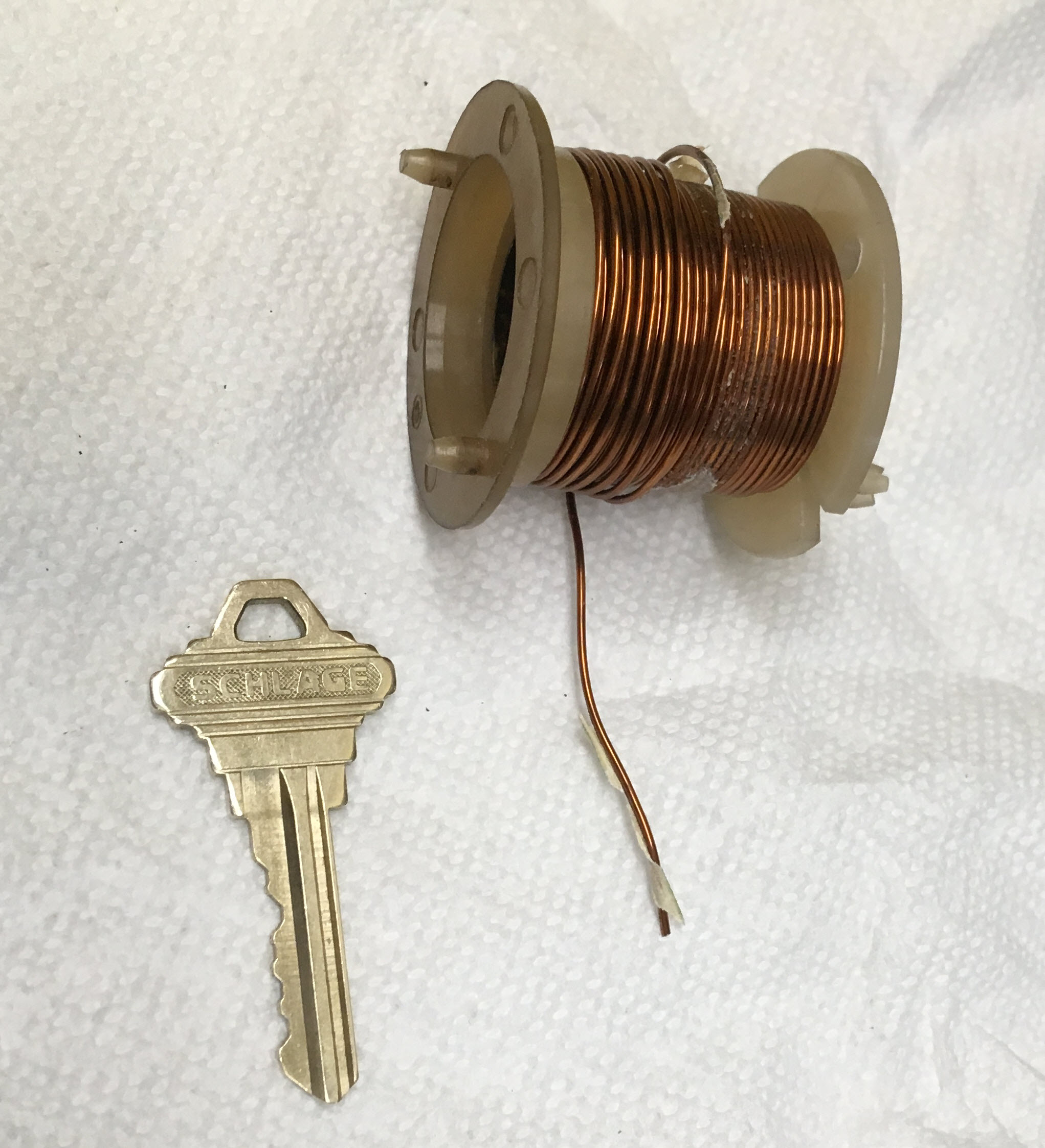 Spool of copper wire (Nissan LD28 solenoid).